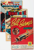 Golden Age (1938-1955):War, Bill Barnes Comics #1, 5, and 8 Group (Street & Smith,1940-43).... (Total: 3 Comic Books)