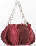 "Luxury Accessories:Bags, Judith Leiber Red Karung Evening Bag. Excellent Condition .7.5"" Width x 5"" Height x 2.5"" Depth, 5.5"" HandleDrop..."