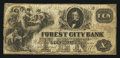 Obsoletes By State:Ohio, Cleveland, OH- Forest City Bank Spurious $10 Nov. 5, 1857 S5. ...