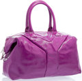 """Luxury Accessories:Accessories, Yves Saint Laurent Pink Patent Leather Easy Medium Tote Bag withSilver Hardware. Excellent Condition. 15"""" Width x 11"""" Hei..."""