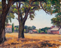 Fine Art - Painting, American:Modern  (1900 1949)  , Horatio Nelson Poole (American, 1884-1949). California Town.Oil on canvas. 16 x 20 inches (40.6 x 50.8 cm). Initialed l...