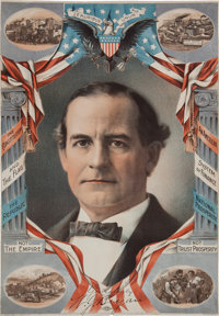 William Jennings Bryan: Rare and Colorful 1900 Poster