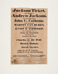 Andrew Jackson: 1828 New York State Broadside