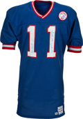 Football Collectibles:Uniforms, 1987 Phil Simms Super Bowl XXI Game Worn New York Giants Jersey....