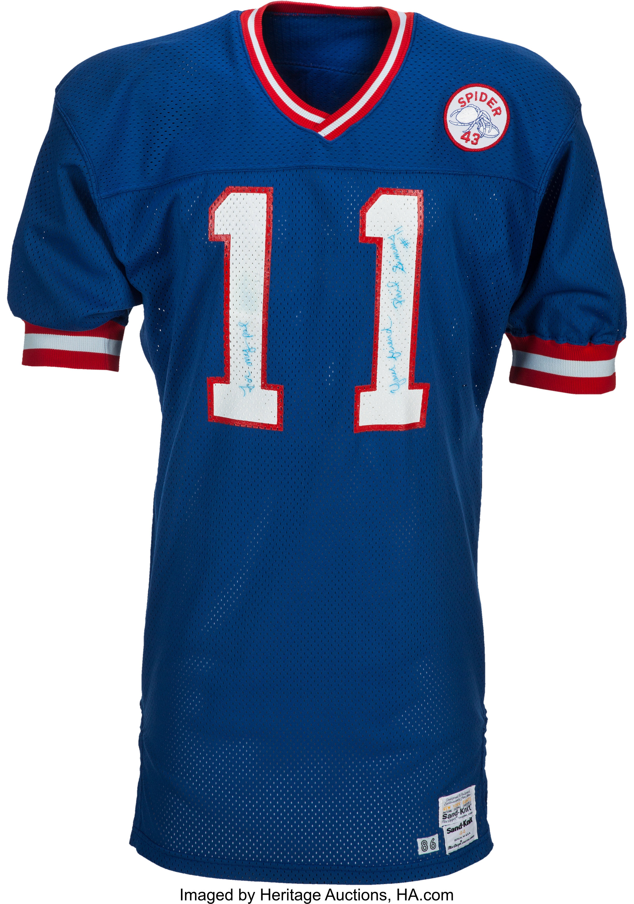 official photos 6658f 07836 1987 Phil Simms Super Bowl XXI Game Worn New York Giants ...