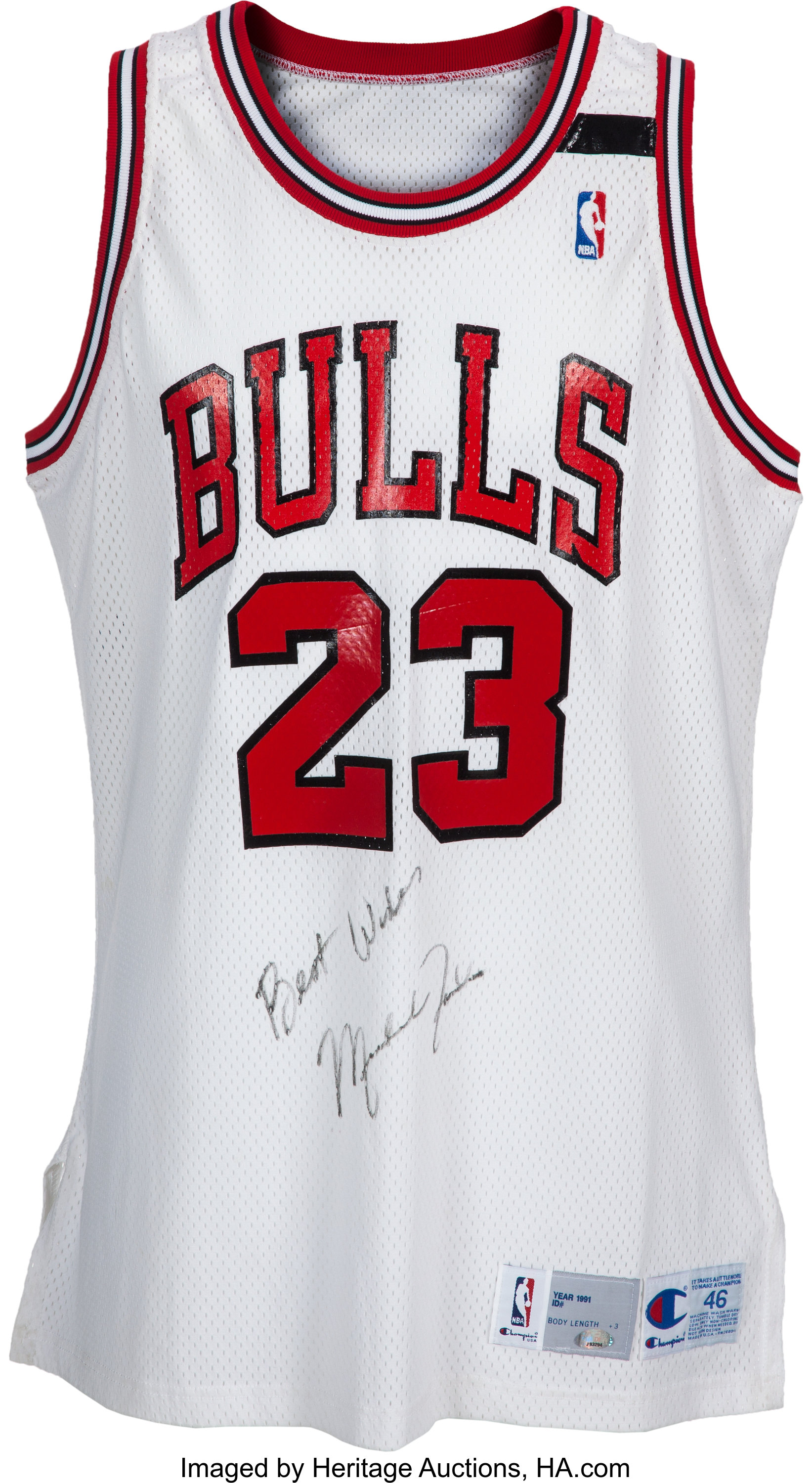 quality design 00cc4 47faa 1991-92 Michael Jordan Game Worn Chicago Bulls Jersey with ...