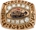 Basketball Collectibles:Others, 1997 Houston Comets WNBA Inaugural Championship Ring Presented toSheryl Swoopes....