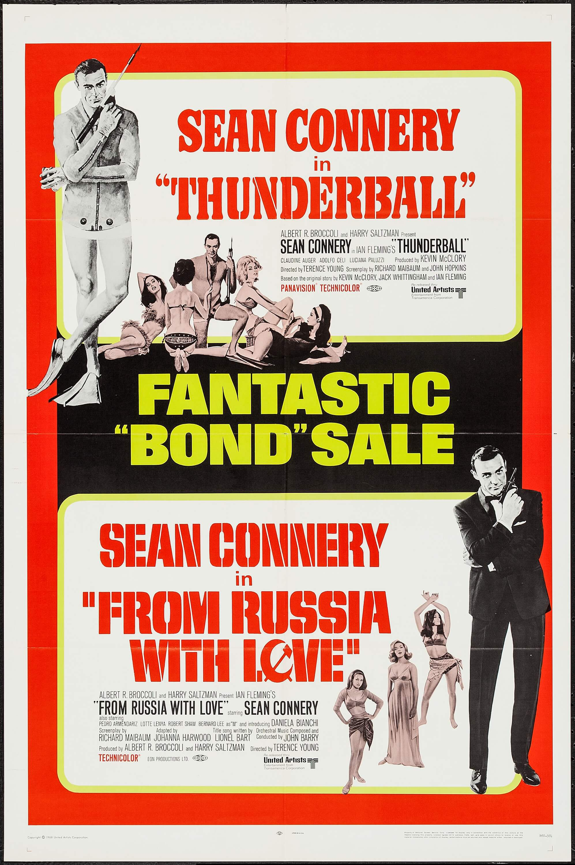 Thunderball/From Russia with Love Combo (United Artists