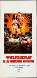 "Movie Posters:Adventure, Tarzan's Magic Fountain (Capitol, R-1970s). Italian Locandina (13""X 27.5""). Adventure.. ..."
