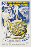 "Movie Posters:Science Fiction, Fiend without a Face (MGM, R-1962). One Sheet (27"" X 41""). ScienceFiction.. ..."