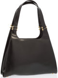"Luxury Accessories:Bags, Judith Leiber Black Leather Tote Bag. Very Good to ExcellentCondition. 14"" Width x 9"" Height x 3.5"" Depth, 9.5"" Shoulder..."