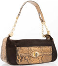 "Luxury Accessories:Bags, Judith Leiber Brown Pony Hair and Python Shoulder Bag. GoodCondition. 12.25"" Width x 5"" Height x 4.25"" Depth, 8""Shoulder..."