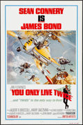 "Movie Posters:James Bond, You Only Live Twice (United Artists, R-1980). One Sheet (27"" X 41""). James Bond.. ..."
