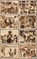 """Movie Posters:Black Films, Black Gold (Norman, 1928). Lobby Card Set of 8 (11"""" X 14""""). BlackFilms.. ... (Total: 8 Items)"""