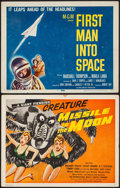 "Movie Posters:Science Fiction, Missile to the Moon & Other Lot (Astor Pictures, 1958). TitleLobby Cards (2) (11"" X 14""). Science Fiction.. ... (Total: 2 Items)"