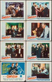 "Compulsion (20th Century Fox, 1959). Lobby Card Set of 8 (11"" X 14""). Crime. ... (Total: 8 Items)"