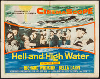 """Hell and High Water & Other Lot (20th Century Fox, 1954). Half Sheet (22"""" X 28""""), One Sheet (27"""" X 41..."""