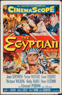 "The Egyptian (20th Century Fox, 1954). One Sheet (27"" X 41""). Historical Drama"