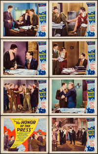 """The Honor of the Press (Mayfair Pictures, 1932). Lobby Card Set of 8 (11"""" X 14""""). Crime. ... (Total: 8 Items)"""