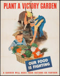 "Movie Posters:War, World War II Propaganda (U.S. Government Printing Office, 1943).Poster (22"" X 28"") ""Plant a Victory Garden."" War.. ..."