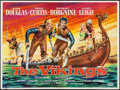 "Movie Posters:Action, The Vikings (United Artists, 1958). British Quad (30"" X 40"").Action.. ..."