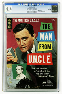 Man from U.N.C.L.E. #4 File Copy (Gold Key, 1966) CGC NM 9.4 Off-white to white pages. Photo cover. Photo pin-up back co...