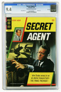 Silver Age (1956-1969):Adventure, Secret Agent #1 File Copy (Gold Key, 1966) CGC NM 9.4 Off-white to white pages. Patrick McGoohan photo front and back cover....