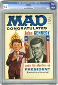 "Magazines:Mad, Mad #60 (EC, 1961) CGC VF/NM 9.0 Off-white pages. JFK and Richard Nixon covers. Shakespeare primer. First appearance of ""Spy..."