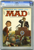 Magazines:Mad, Mad #66 (EC, 1961) CGC VF/NM 9.0 Off-white to white pages. Comedy Albums by musicians. Mythology primer. JFK cover by Frank ...