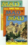 Magazines:Mad, Mad Group (EC, 1956-64) Condition: Average VG/FN. Includes #27 (AlJaffee starts as story artist, GD-), 29 (Don Martin start...(Total: 15 Comic Books)
