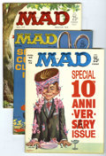 Magazines:Mad, Mad Group (EC, 1963-65) Condition: Average VF/NM. Issues #72 (10thanniversary special), 75, 77, 84, 85 (Abraham Lincoln cov...(Total: 10 Comic Books)