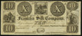 Obsoletes By State:Ohio, Franklin, OH-Franklin Silk Company $10 18__ Remainder. ...