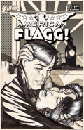 Original Comic Art:Covers, Howard Chaykin American Flagg #24 Cover Original Art (FirstComics, 1985)....