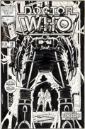 Original Comic Art:Covers, Dave Gibbons Doctor Who #19 Cover Original Art (Marvel, 1986)....