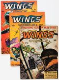 Golden Age (1938-1955):War, Wings Comics Group of 6 (Fiction House, 1943-51) Condition: Average VG.... (Total: 6 Comic Books)