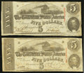 Confederate Notes:1863 Issues, T60 $5 1863 PF-31 Cr. 463 Two Examples.. ... (Total: 2 notes)
