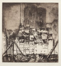 Prints, Earl Horter (American, 1881-1940). Cityscape. Etching with aquatint. 6-1/2 x 6 inches (16.5 x 15.2 cm) (plate). Signed i...