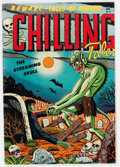 Golden Age (1938-1955):Horror, Chilling Tales #13 (#1) (Youthful Magazines, 1952) Condition:VG/FN....