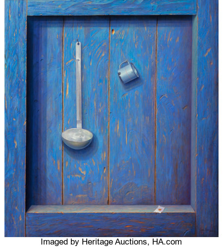 Miguel Florido (Cuban, b. 1980) Nostalgia, 2011-12 Oil on canvas 36-3/4 x 33-1/4 inches (93.3 x 84.5 cm) Signed and ... (Total: 2 Items)