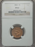 Proof Indian Cents: , 1862 1C PR61 NGC. NGC Census: (0/238). PCGS Population (1/286). Mintage: 550. Numismedia Wsl. Price for problem free NGC/PC...