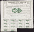 Confederate Notes:Group Lots, Ball 9 Cr. 8 $1000 1861 Bond.. ...