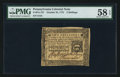Colonial Notes:Pennsylvania, Pennsylvania October 25, 1775 2s PMG Choice About Unc 58 EPQ.. ...