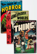 Golden Age (1938-1955):Horror, Golden Age Horror Group of 3 (Various Publishers, 1950s) Condition:Average VG/FN.... (Total: 3 Comic Books)