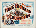 "Movie Posters:Adventure, King Richard and the Crusaders (Warner Brothers, 1954). Half Sheet(22"" X 28""). Adventure.. ..."