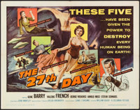 """The 27th Day (Columbia, 1957). Half Sheet (22"""" X 28""""). Science Fiction"""