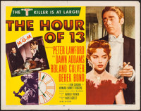 "The Hour of 13 (MGM, 1952). Half Sheet (22"" X 28"") Style A. Mystery"