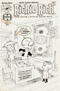 Original Comic Art:Covers, Warren Kremer Richie Rich #158 Cover Original Art (Harvey,1977)....