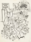 Original Comic Art:Covers, George Baker Sad Sack Unpublished Cover Original Art(Harvey, c. 1973)....