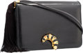 "Luxury Accessories:Bags, Judith Leiber Black Karung Shoulder Bag with Caterpillar Closure.Very Good to Excellent Condition. 8"" Width x 5.5""He..."