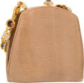 "Luxury Accessories:Bags, Judith Leiber Tan Lizard Evening Bag. Excellent Condition.6.5"" Width x 6"" Height x 3"" Depth. ..."